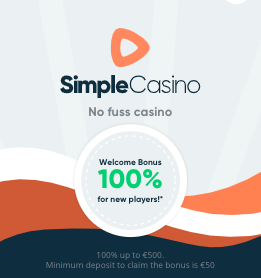 simple casino bonus 100%