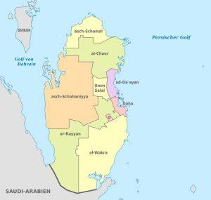 WK 2022 Qatar map