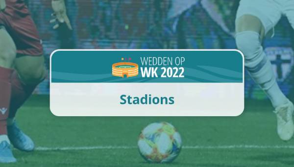 WK voetbal 2022 stadions locaties
