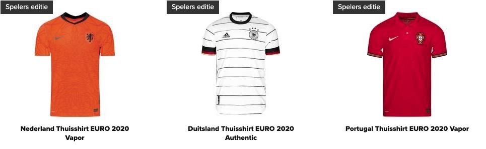 EURO2020 voetbalshirts EK 2021