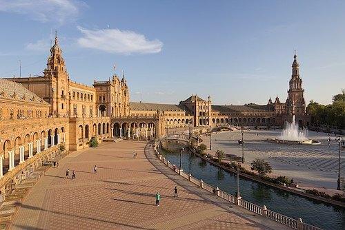 Sevilla spaanse plein